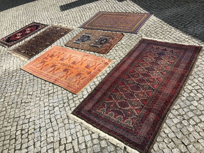 6 Antique and Unique Hand Made Turkish , Persian Rug