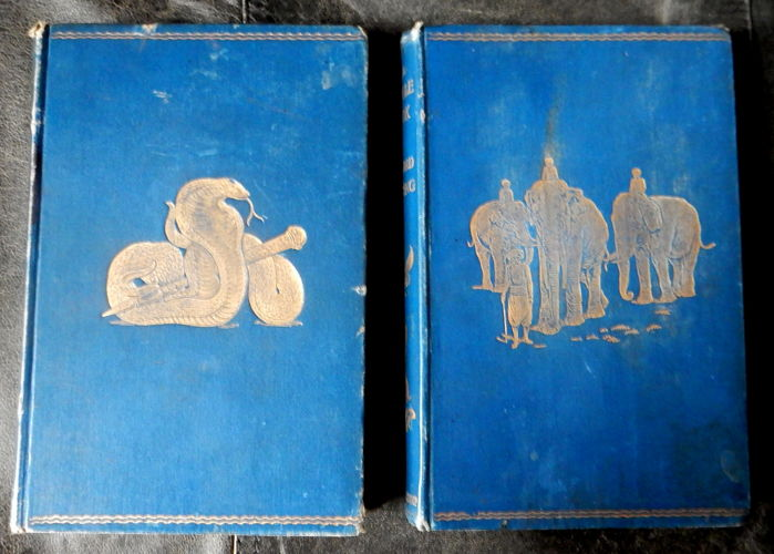 Rudyard Kipling - The Jungle Book and the Second Jungle Book - 2 volumes - 1895 / 1898