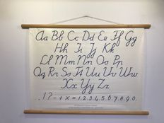 Lovely school poster letters and numbers