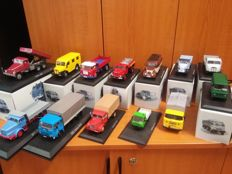 Atlas Editions - Scale 1/43 - Lot of 13 models from Middle & East European Truck Serie