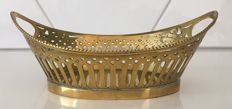 Brass bonbon dish with pearl rim