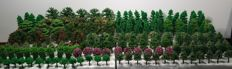 Scenery H0 - Lot with 175 model trees / trees.