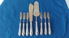Dessert cutlery set for 6 people, vintage