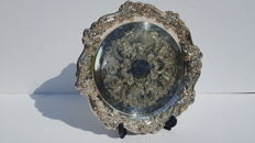 Large silver plated,fruits plate/tray marked(37 cm diameter)