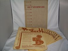 15 complete volumes of HET VEERWERK Maandblad voor den Amateurfilmer (1938, 1954-1958) and SMALFILM (1959-1967)