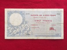 New Caledonia - 20 Francs 2.6.1924 - Pick 20