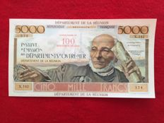 Reunion - 100 New Francs on 5000 Francs (1971) - Pick 56b