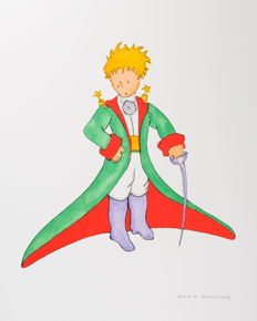 Antoine de Saint-Exupéry (after)  - Le Petit Prince en grand manteau (The Little Prince In His Suit)