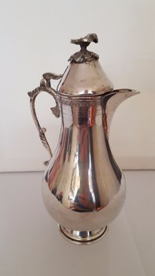 Silver olive oil decanter, Egypt, 20th century