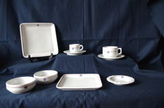 Fokker aircraft factory - 9 pieces of the company dinner service - Mosa Maastricht