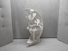 Jean Garnier / 1853 - 1910 / Porcelain biscuit statue / Dancer on the moon / Signed