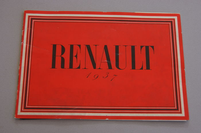 Renault - Sales Brochure with 10 images/pictures in colour - 27.5 x 19 cm - 1937