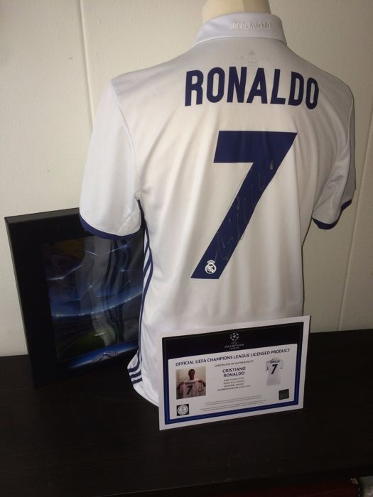 info for 49cd2 701c2 Cristiano Ronaldo / Real Madrid - Signed and Boxed shirt 16 ...
