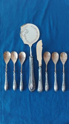 "Vintage dessert cutlery set for 6 people, ""Anni 1930"""