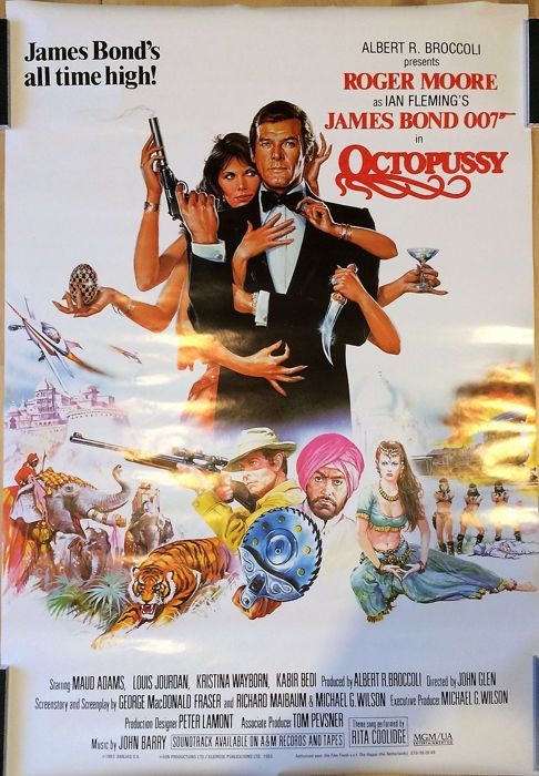 James Bond 007 - OCTOPUSSY - Regular movie poster approx. 60 x 85cm (24 x 34 inches)