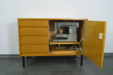 Sideboard cupboard from GEBUWIN/N: with Pfaff sewing machine model 97 - Netherlands - 1960s