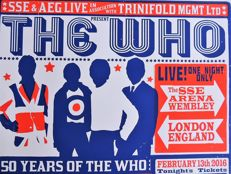 Psychedelisches THE WHO Konzert-Plakat 2016