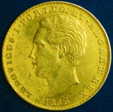 Portugal – 2.000 Reis in Gold – 1865 – D. Luís I – Lisbon – Exceptional – AG: 13.02