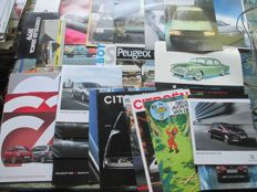 Car brochures (Peugeot/Citroën/Talbot/Simca, 27x, most  60s-90s)