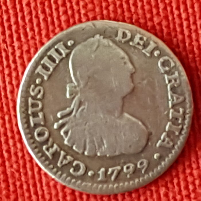 Carlos IIII (IV) - 1 silver real - Year 1799 - Mint of Mexico - F.M. - Small module