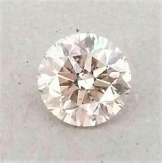 1.20 carat - Natural Fancy Champagne Round Brilliant Cut  - SI1 clarity- Comes With AIG Certificate + Laser Inscription On Girdle