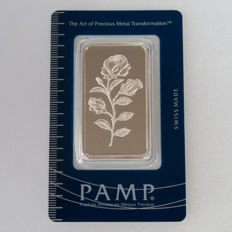 Switzerland - silver bar 'Pamp / Rose' - 1 oz silver