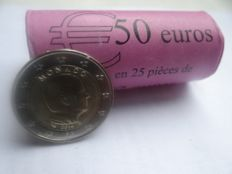 Monaco – 2 Euro coins 2016, Albert II (25 pieces) in view roll