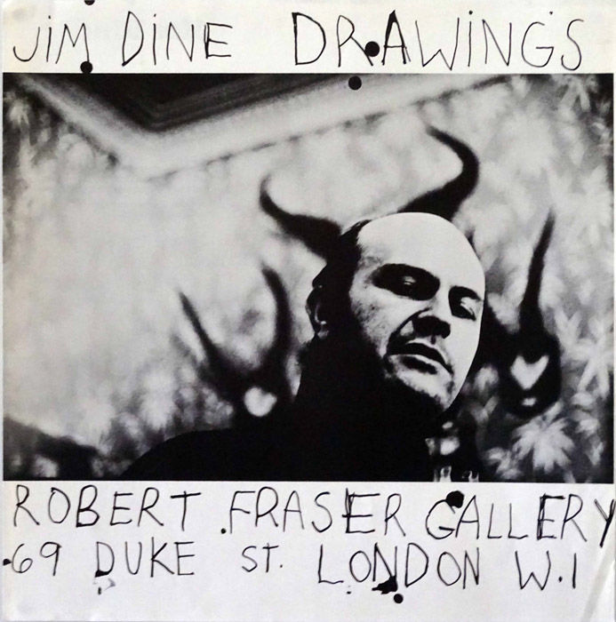 Jim Dine / Michael Cooper - Jim Dine Drawings - Robert Fraser Gallery, London