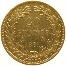 France - 20 francs 1831A - Louis Philippe I - gold