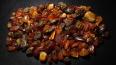 Lot of natural Baltic amber - 250 g.