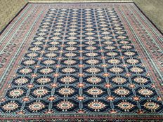BUKHARA in royal blue – approx. 365 x 287 cm – with certificate of authenticity – 20th  century – condition: VERY GOOD!