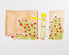 Antoine de Saint-Exupéry (after)  - Le Petit Prince dans le jardin des roses (The Little Prince in The Garden Of Roses)