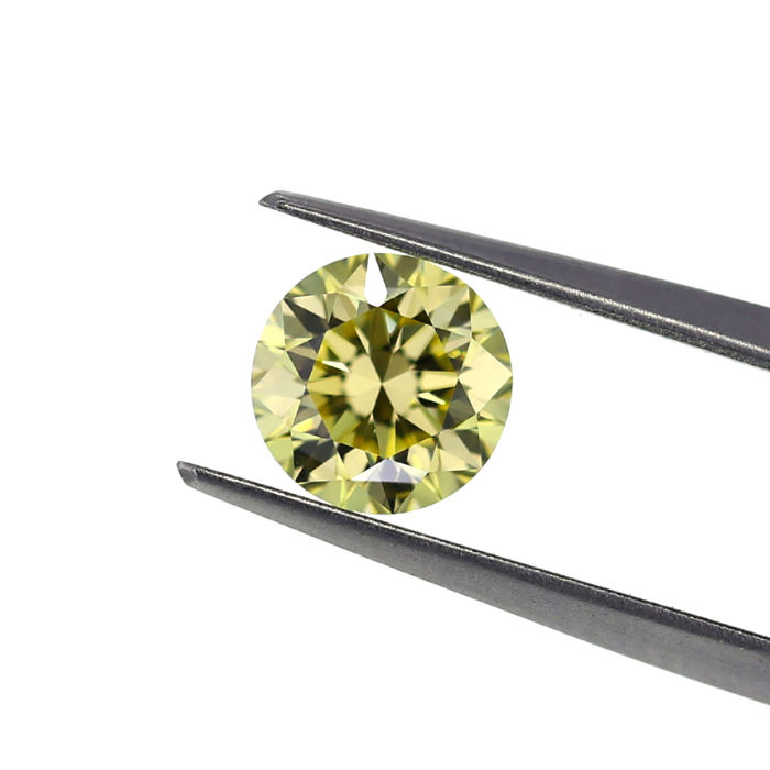 Natural Fancy Yellow  1.30 ct. VVS2 Round Brilliant shape Diamond, GIA certified