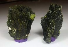 New Find Top Quality  Epidote Crystal Bunch Lot - 53 to 20 mm - 104 gm (2)