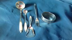 Lot consisting of 5 Keltum silver plated parts