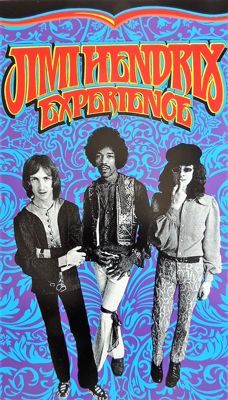 Psychedelic Jimi Hendrix Experience Poster