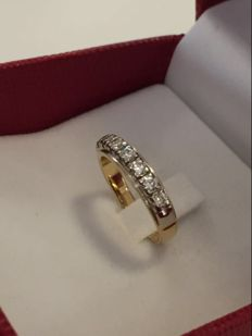 Veretta women's ring in 18 kt gold with diamonds, 0.50 ct - size 14