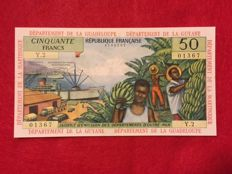French Antilles - 50 Francs (1964) - Pick 9b