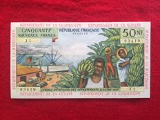 French Antilles - 50 New Francs ND(1963) - Pick 6