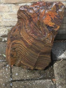 Rare large chunk of rough tiger iron - 50 x 30 x 15 - 31 kg