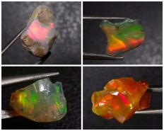 Natural Multicolor Opals - 7.4 ct. (4)