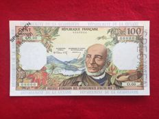 French Antilles - 100 Francs (1964) Specimen - Pick 10as