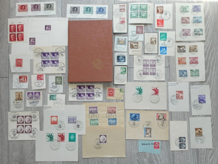 German Empire 1875/1945 - Collection in stockbook and on pieces