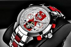 Zeitlos Excellent Race Edition Red Steel Strap ZL-ES-10