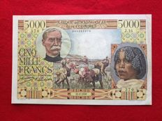 Madagascar - 5000 Francs 30.6.1950 - Pick 49a - extremely rare