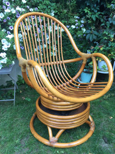 Rocking Chair bamboo / wicker - 1970s