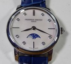 Frederique Constant - Moonphase - MOP - Diamond Dial - 2010's - Ladies Wristwatch