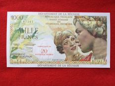 Reunion - 20 New Francs on 1000 Francs (1971) - Pick 55b