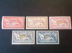 France 1900 – Selection of Merson types – Yvert 119/123.