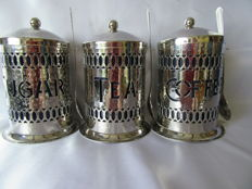 Silver plated stock pots
